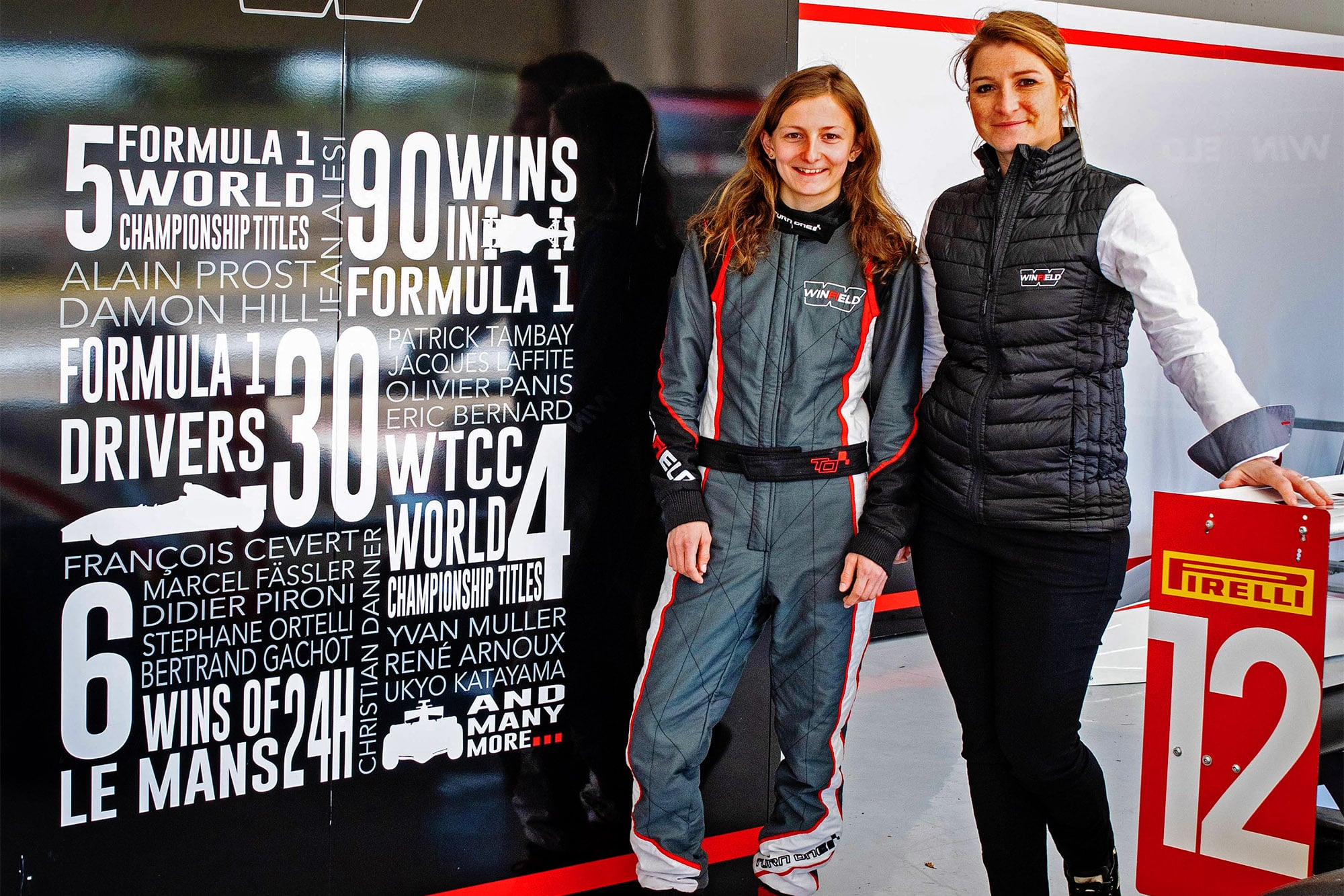 Doriane Pin awarded by the FIA Women in Motorsport Commission during the Winfield Contest at Le Castellet , feb 2019