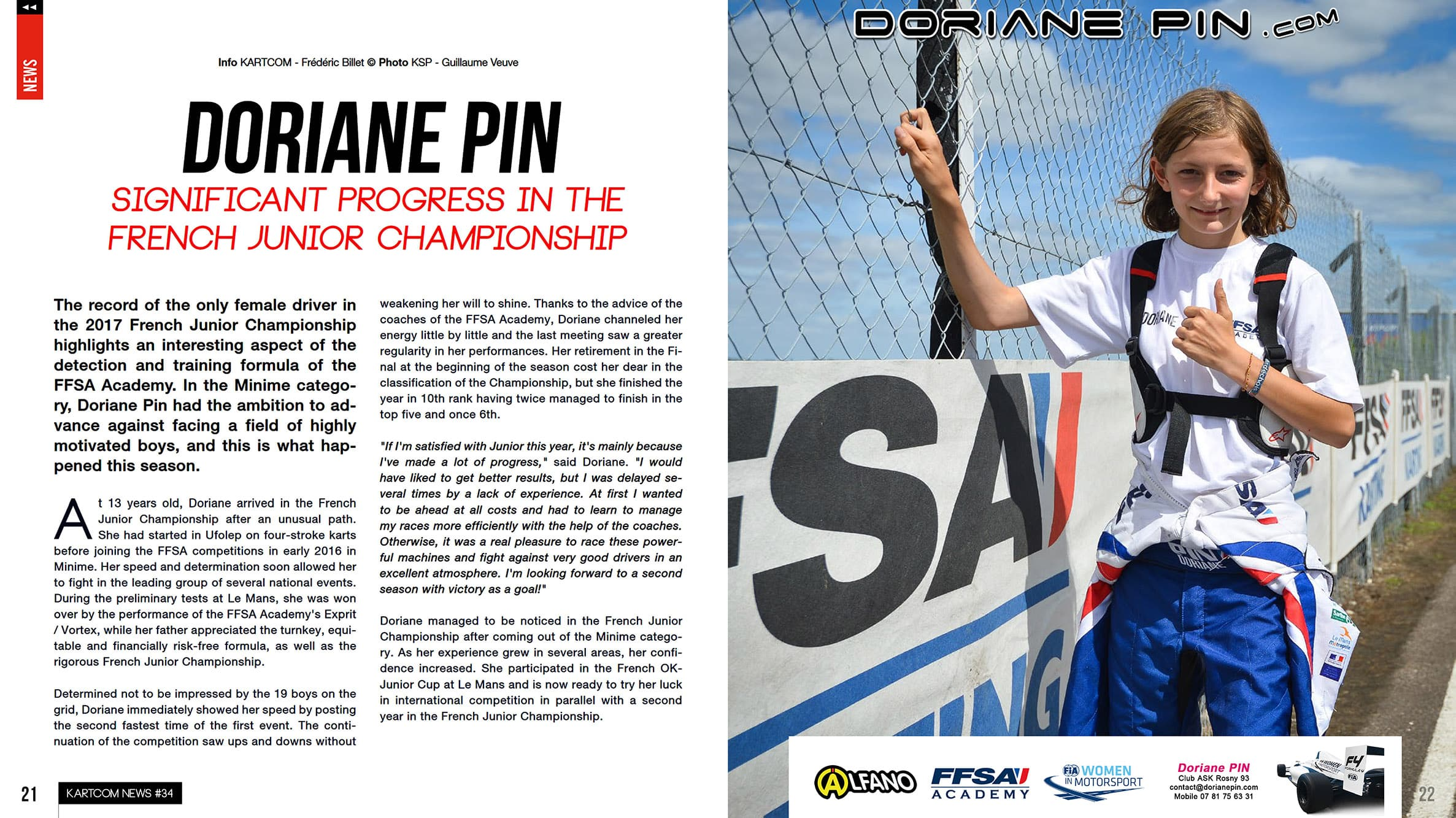 Doriane Pin, Significant progress in the French Junior Championship