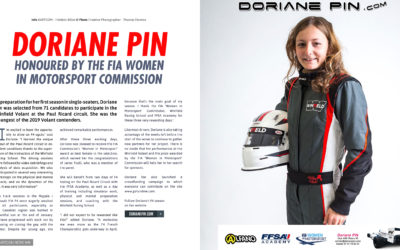 Doriane Pin honoured by the FIA Women in Motorsport Commission 2019