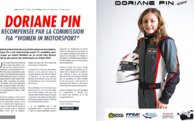 Doriane Pin récompensée par la Commission FIA Women in Motorsport 2019