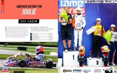 New category for Doriane Pin 4th in IAME X30 Junior