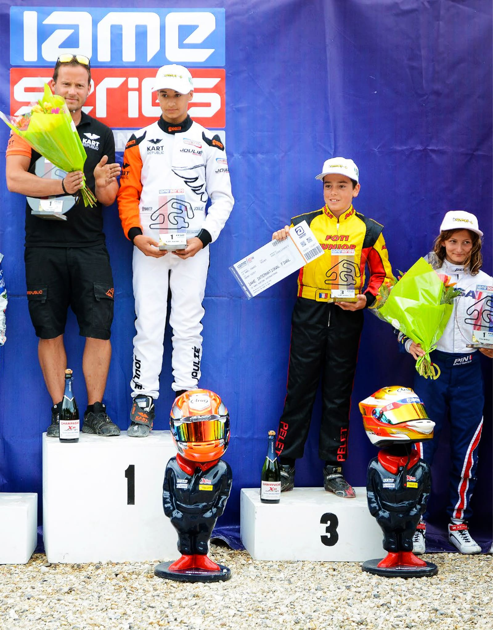 Doriane Pin 4th in her first race in catégory IAME Series France X30 Junior.