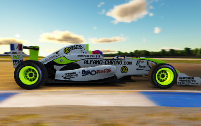 Doriane Pin drives her Formula Renault 2.0 on iRacing, THE best racing simulator.