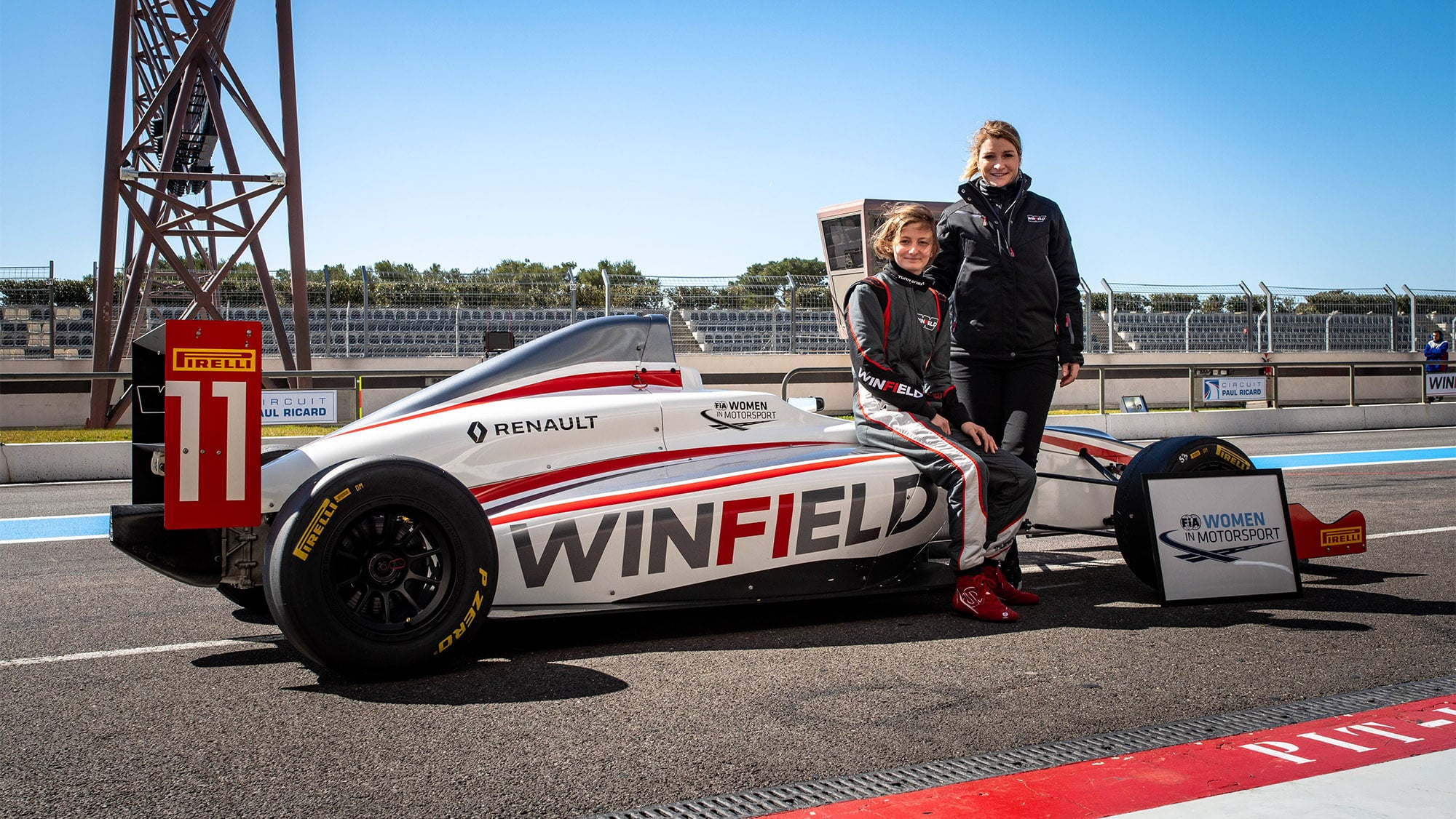 FIA Women in Motorsport awards Doriane Pin , best female driver during the Volant Winfield at LeCastellet.