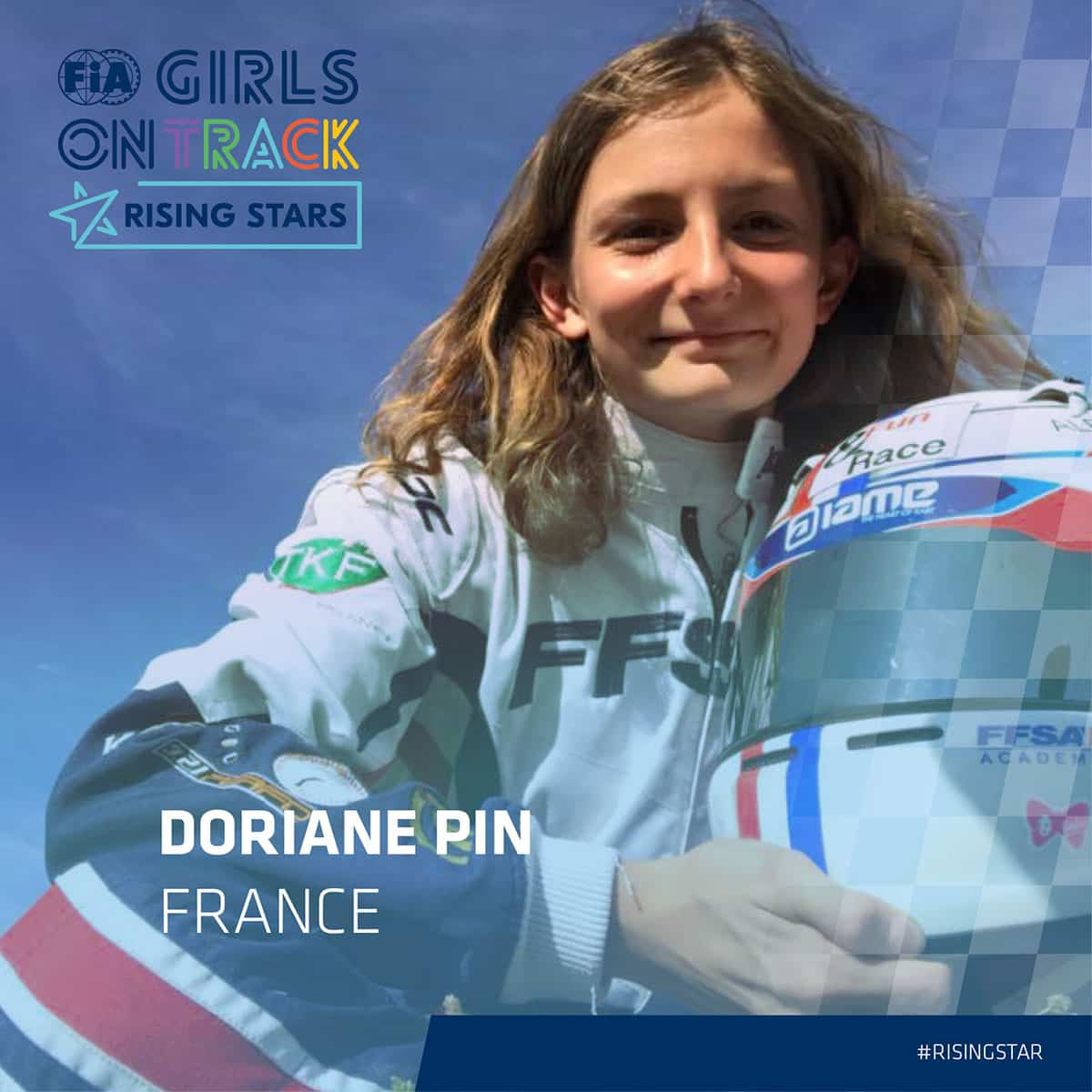 Doriane Pin WIM Girls on Track , rising-star , profil officel social media posts 1200